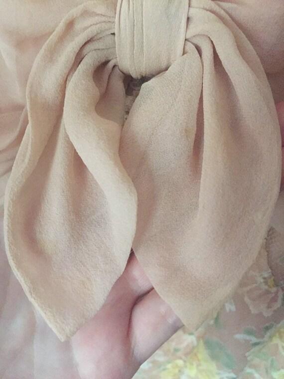 50's Chiffon Illusion Dress with Pastel Lace - image 8