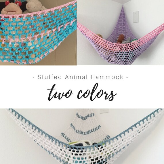Toy Hammock Two Color Stuffed Animal Organization Net Etsy