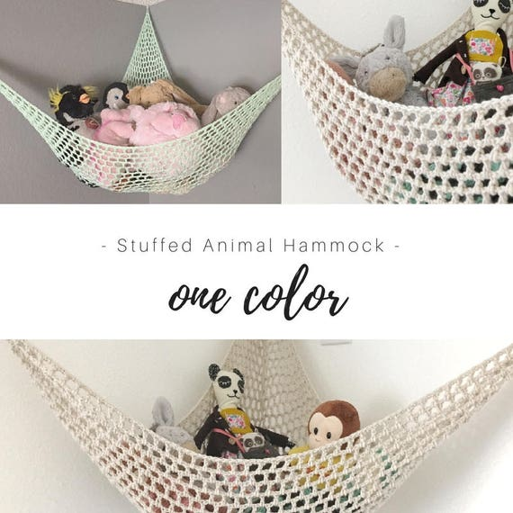 Toy Hammock Pick Your Color Personalized Nursery Toy Etsy