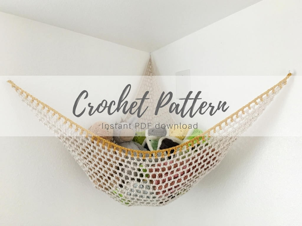 PDF CROCHET PATTERN / Customizable Stuffed Animal Hammock / Soft ...