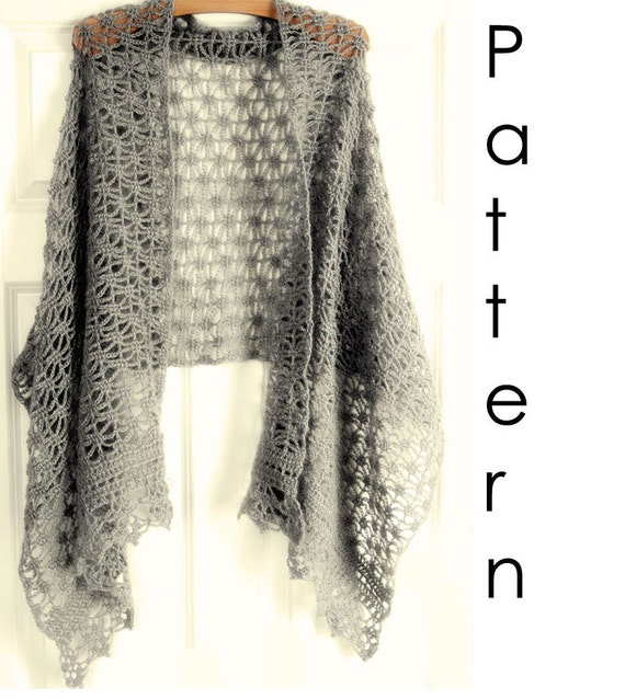 Crochet Pattern Pdf Lacy Crochet Shawl Etsy