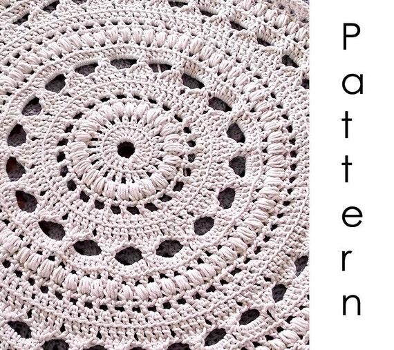 Häkeln Sie Muster Pdf-Deckchen häkeln Teppich | Etsy