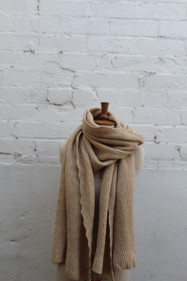 8e6a9ddbe Camel hair herringbone blanket scarf Medium/XL | Etsy
