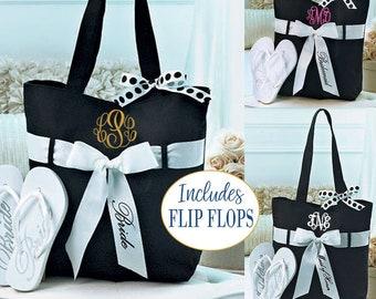 b4d1e41b642d3f FREE FLIP FLOPS Wedding Tote Monogrammed