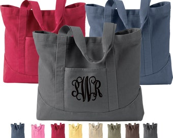 Large Tote Bag Monogram, Authentic Pigment Totes, Personalized Tote Bag,  Monogrammed Tote Bags, Personalized Canvas Tote Bag ad497111a6