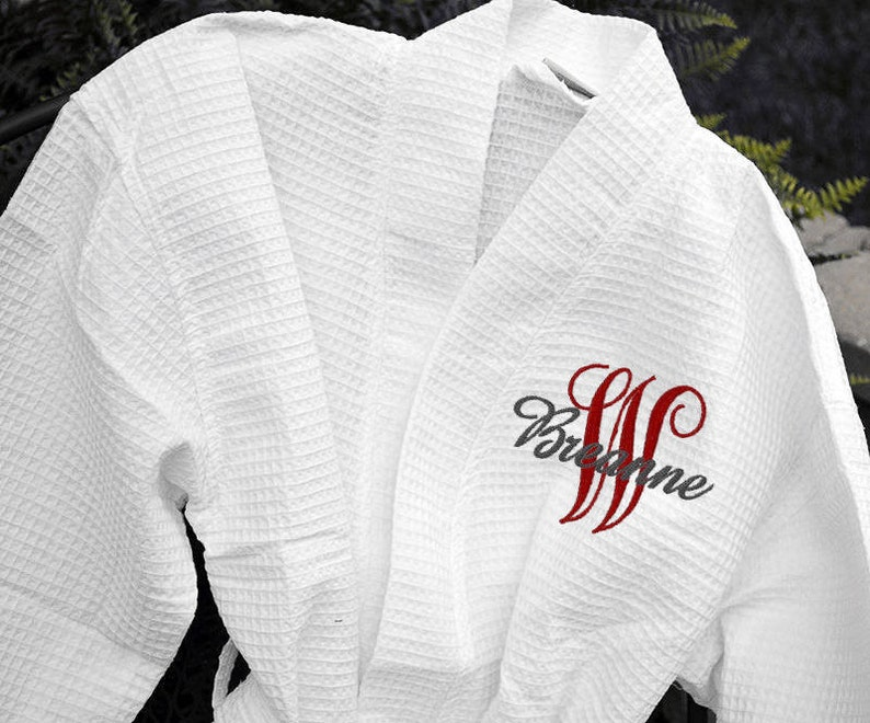 d1690f4888 BEAUTIFUL ROBES Monogram Robe Personalized Robes Waffle
