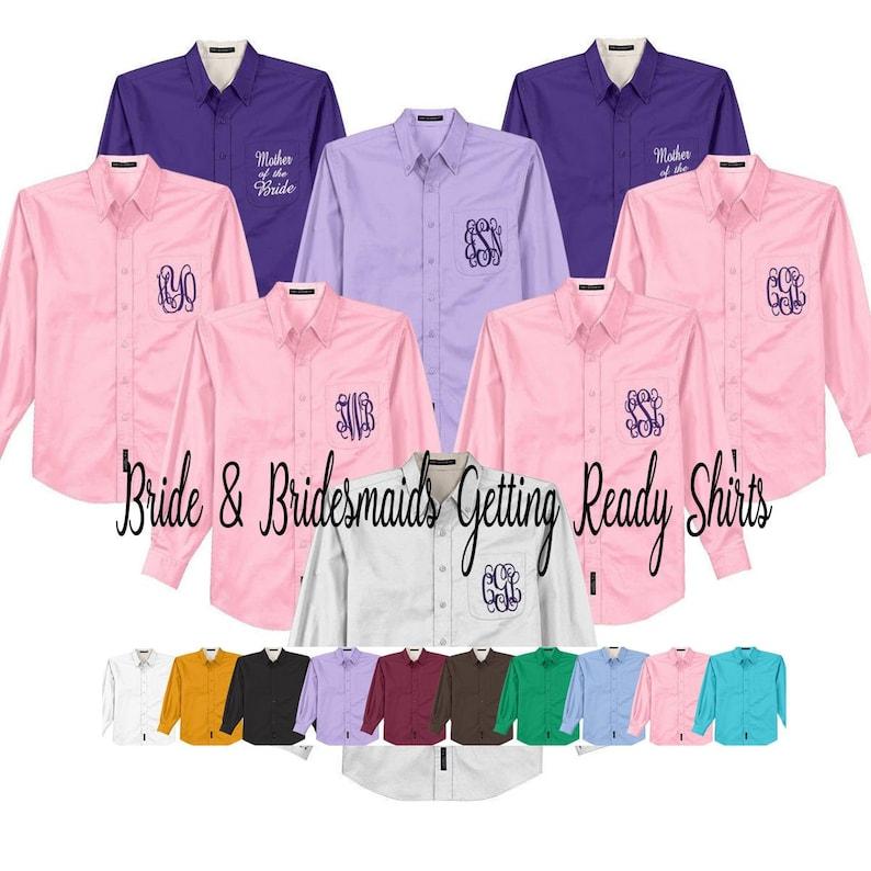 b88b0300d6 BRIDAL PARTY SHIRTS, Monogram Wedding Day Shirts, Bride Wedding Day Shirts,  Personalized Wedding Shirts, Getting Ready Shirts, Free Shipping