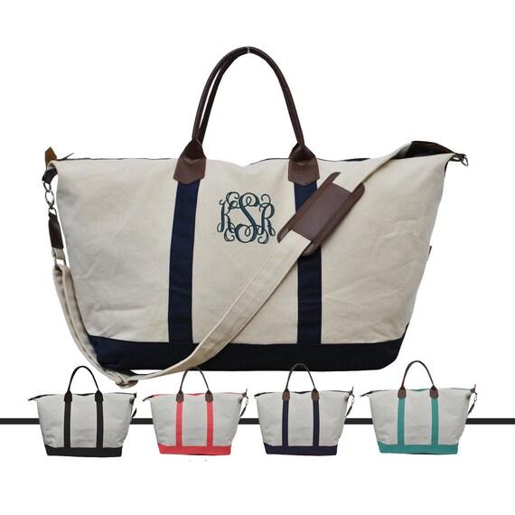 Weekender With Shoulder Strap Tote Bag Personalized Weekender   Etsy fd915935aa