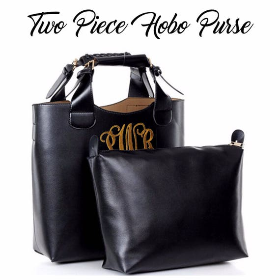 Women s Hobo Clutch Purse Monogrammed Monogram Ladies  f27dd9a0c2c4a