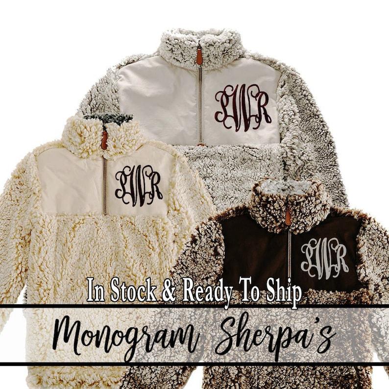 b1bfca0b98e WARM   COZY Sherpa Sweatshirt Monogram Sherpa s