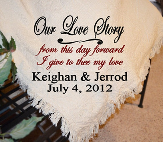 Personalized Wedding Afghans Personalized Wedding Throws Etsy Cool Personalized Wedding Throw Blanket