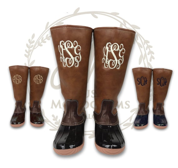 6e9570929978f Ladies Duck Boots Monogrammed, Tall Duck Boots, Personalized Duck Boots,  Embroidered Duck Boots, Knee High Duck Boots, Waterproof Duck Boots