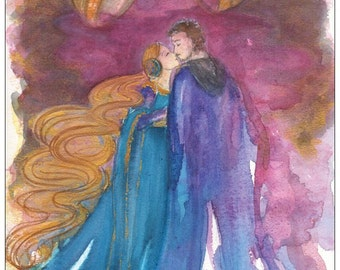 Tristan and Iseult postcard