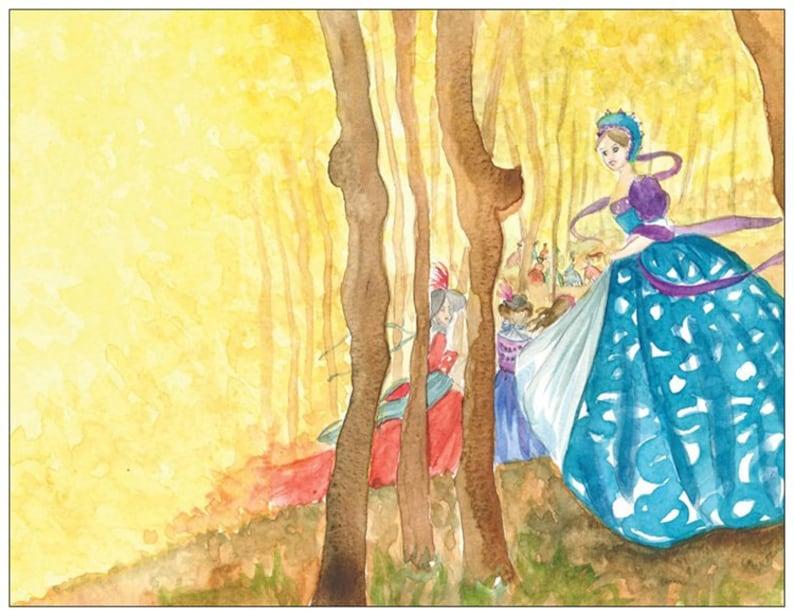 The Twelve dancing princesses postcard