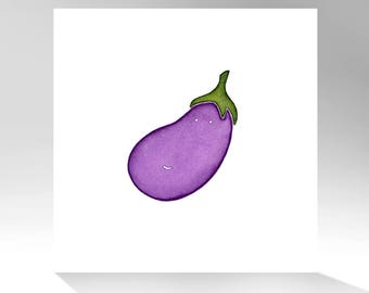 EGGPLANT / Archival Quality Print of Original Watercolor Painting