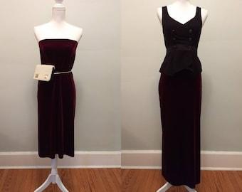 Velvet skirt or tube dress / S