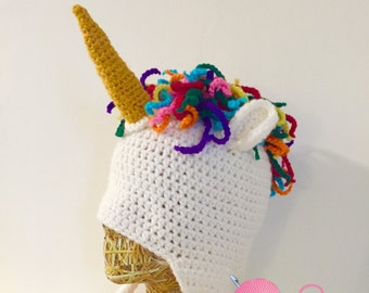 Magical Unicorn Beanie Crochet PATTERN