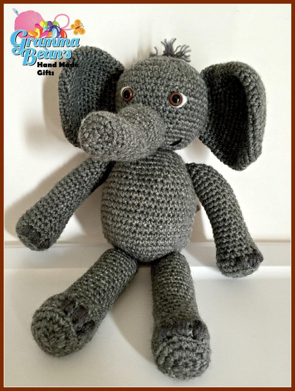 Crochet Stuffed Elephant Pattern Interesting Decoration