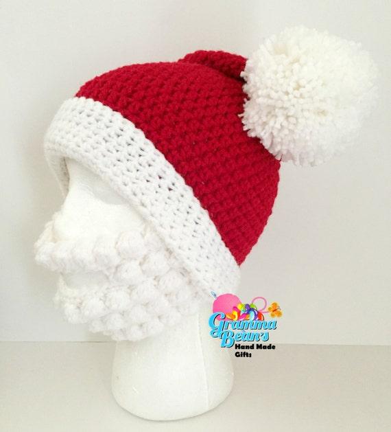Santa Hat & Beard Pattern | Etsy