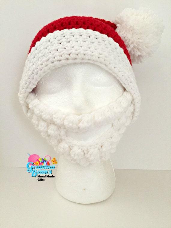 Santa sombrero y barba | Etsy