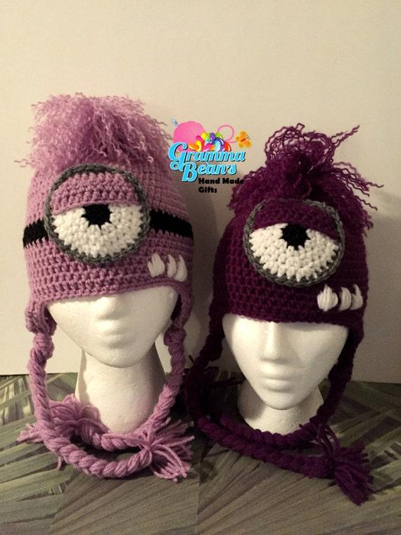 Silly Purple Minion Crochet Hat Pattern Etsy