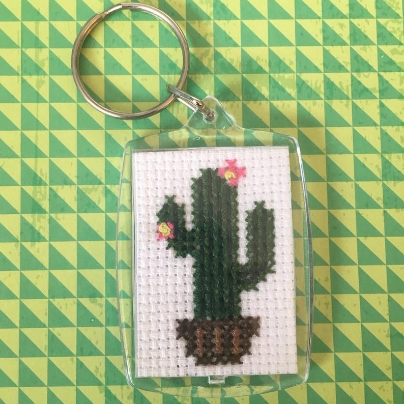 Cross Stitch Cactus Finished Cross Stitch