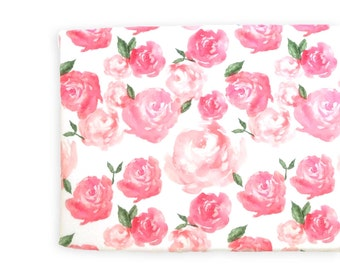 Changing Pad Cover Pink Peonies. Change Pad. Changing Pad. Floral Changing Pad Cover. Changing Pad Girl.