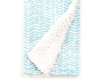 Baby Blanket Aqua Split Chevron. The Cloud Blanket. Faux Fur Baby Blanket. Minky Baby Blanket. Aqua Baby Blanket.