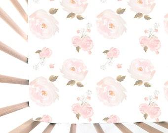 Crib Sheet Mermaid Floral Fitted Crib Sheet Baby Bedding
