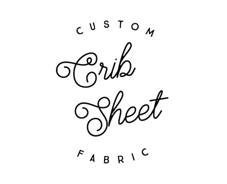 Custom Crib Sheet: Organic Cotton or Minky. Crib Sheet. Fitted image 0