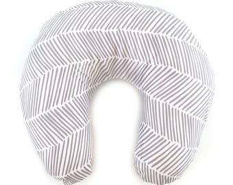 Nursing Pillow Cover Gray Freeform Arrows. Nursing Pillow. Nursing Pillow Cover. Gray Nursing Pillow Cover.