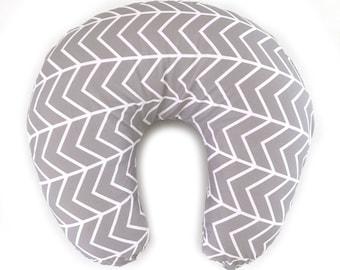 Nursing Pillow Cover Gray Chevron. Nursing Pillow. Nursing Pillow Cover. Minky Nursing Pillow Cover. Gray Nursing Pillow Cover.