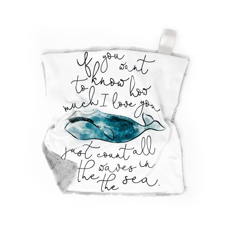 Lovey How Much I Love You Teal Whale. Lovey. Whale Lovey. image 0