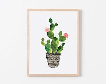 Watercolor Cactus I Nursery Art. Nursery Wall Art. Nursery Prints. Nursery Decor. Cactus Wall Art. Cactus Nursery.