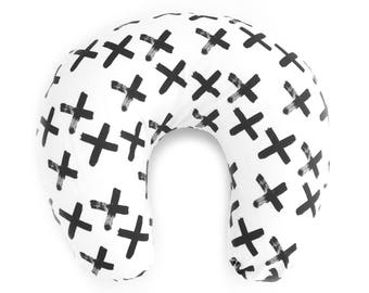 Nursing Pillow Cover Black X. Nursing Pillow. Nursing Pillow Cover. Minky Nursing Pillow Cover. Black and White Nursing Pillow Cover.