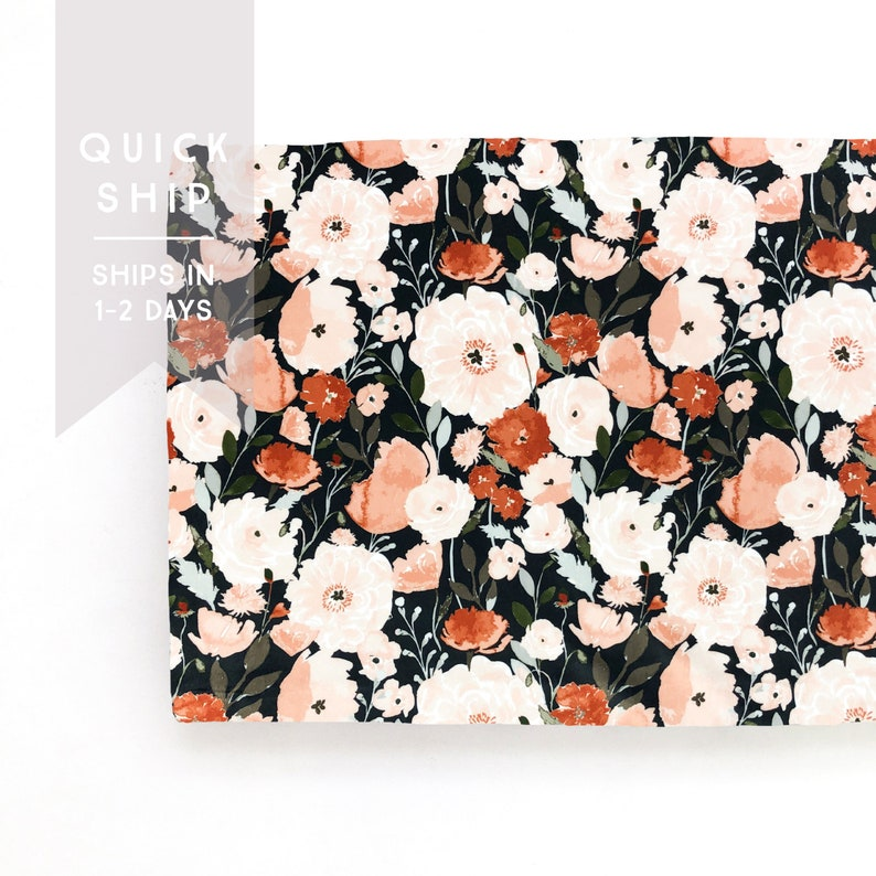 Changing Pad Cover: Copper Poppy Minky Changing Pad Cover Change Pad Quick Ship. Changing Pad Baby Gift Floral Changing Pad Cover