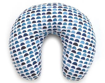 Nursing Pillow Cover Indigo Rocks. Nursing Pillow. Nursing Pillow Cover. Navy Nursing Pillow Cover.