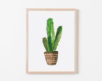 Watercolor Cactus II Nursery Art. Nursery Wall Art. Nursery Prints. Nursery Decor. Cactus Wall Art. Cactus Nursery.