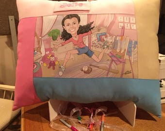 Your Personal Personality Portrait on a Giant Pillow