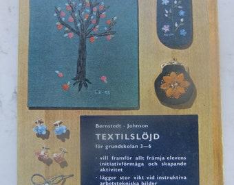 Vintage Swedish craft book - Handicraft from Primary school - 1968