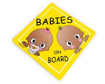 Personalised Child//Baby On Board Emoji Car Sign ~ Big Sister On Board