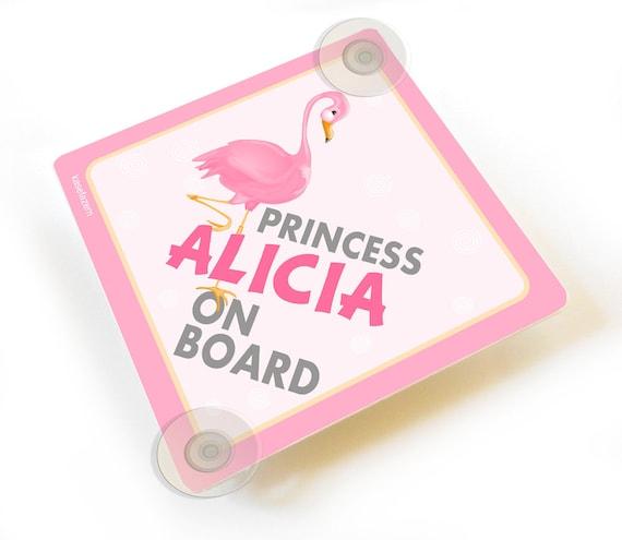 La princesse Alisha à bord personnalisé bébé fille VOITURE SIGNE