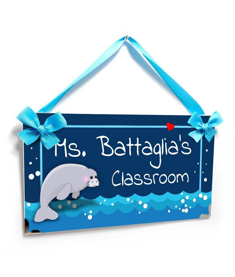 Lehrer personalisierte Geschenke Klassenzimmer Tür oder   Etsy
