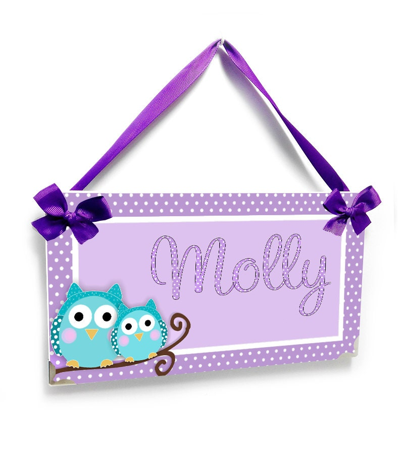 Owl Bedroom Decor Light Purple And Teal Owls In A Branch