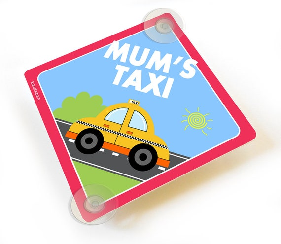 Personalised Taxi Car Window Sign
