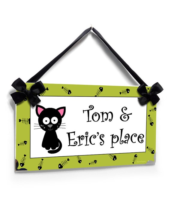 Cat Lovers Hanging Wall Door PVC Signs Plaques Christmas Birthday Gift Kittens