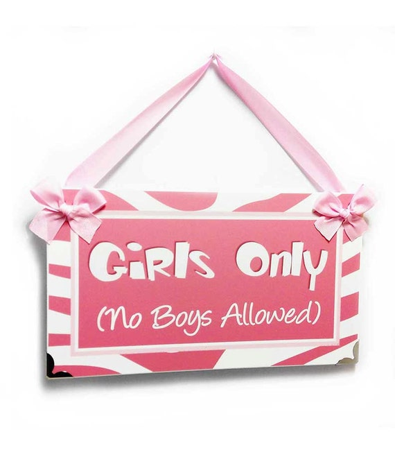 all colors available P2389 girls room no boys allowed tennagers bedroom door sign blue and pink zebra print