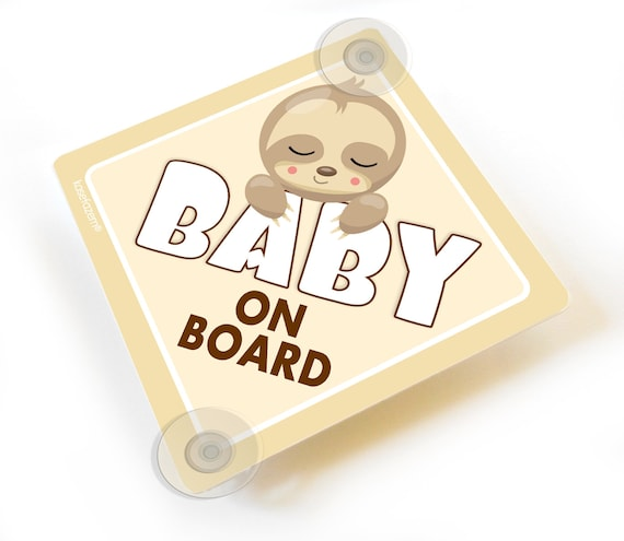 Daddy/'s Boy On Board Baby on Board Suction Cup Car Sign Style