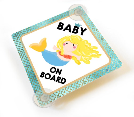 Personalised Child//Baby On Board Car Sign ~ Niece On Board ~ Blonde