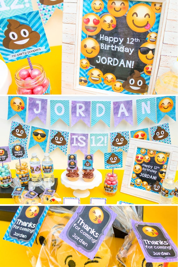 Emoji Birthday Decorations Poop Party